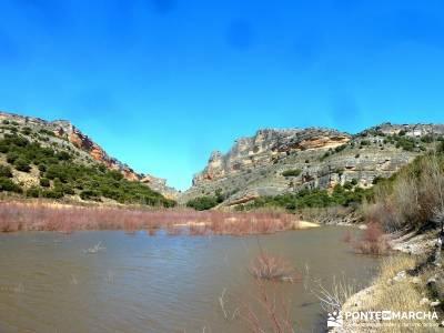 Cañón del Río Salado; Embalse El Atance; rutas senderismo nacimiento del rio cuervo las lagunas d